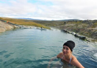 termální prameny na Islandu