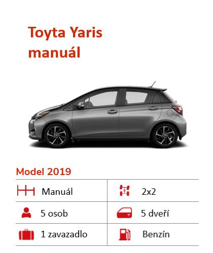Toyota Yaris auto k pronájmu