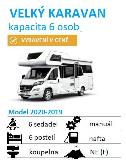 velký karavan pro 5-6 osob