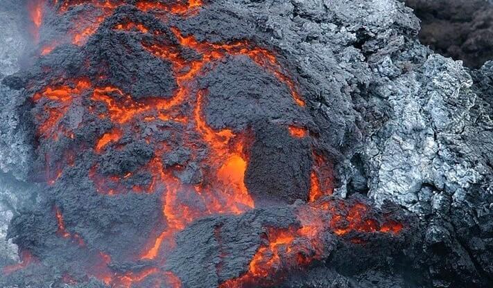 exkurze erupce sopky Island