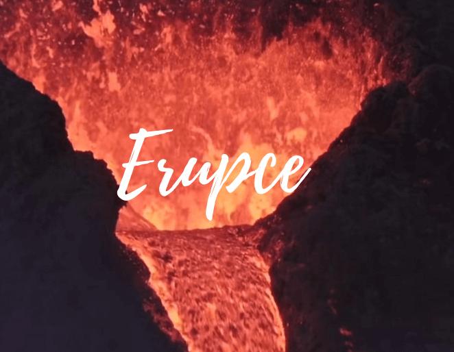 Erupce sopky na Isladu