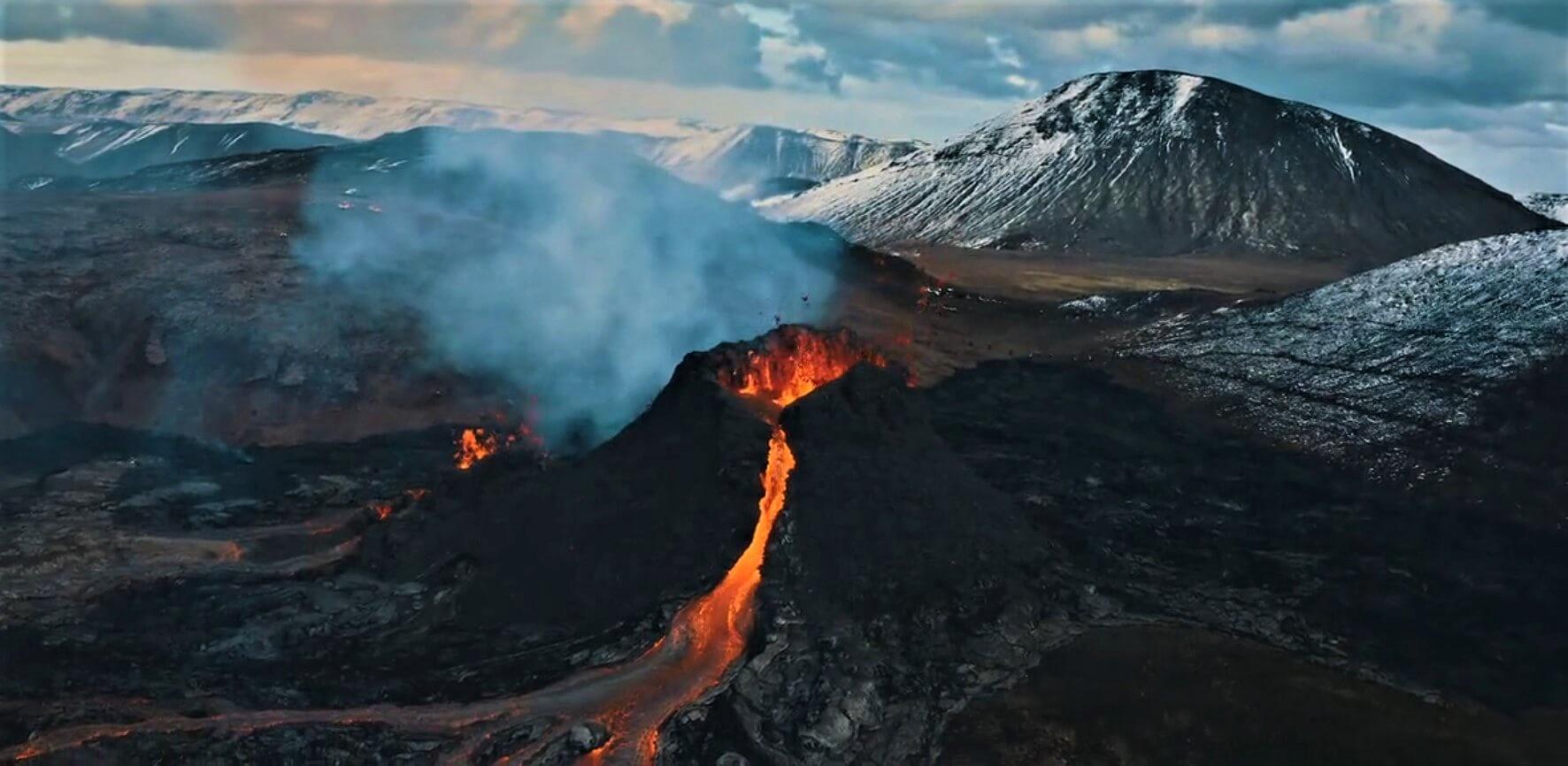 Erupce sopka Fagradalsfjall Island
